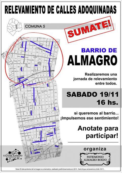 Relevamiento de calles adoquinadas – Barrio Almagro