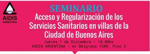 Seminario: Acceso y Regularización de los Servicios Sanitarios en villas de la CABA