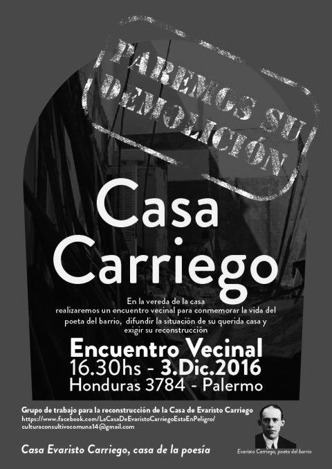 Casa Carriego – ¡Paremos la demolición!