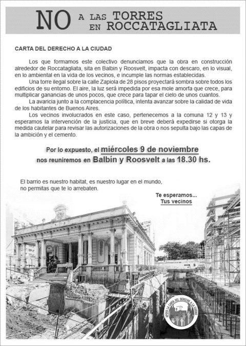 NO a las TORRES en ROCCATAGLIATA