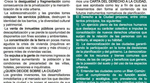 Carta del Derecho a la Ciudad – Versión 1.0 – Septiembre 2016