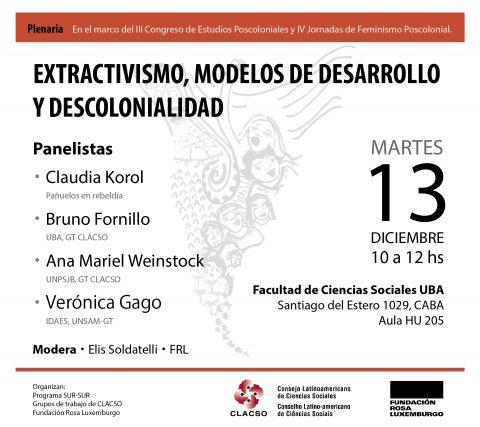 Extractivismo, Modelos de Desarrollo y Descolonialidad