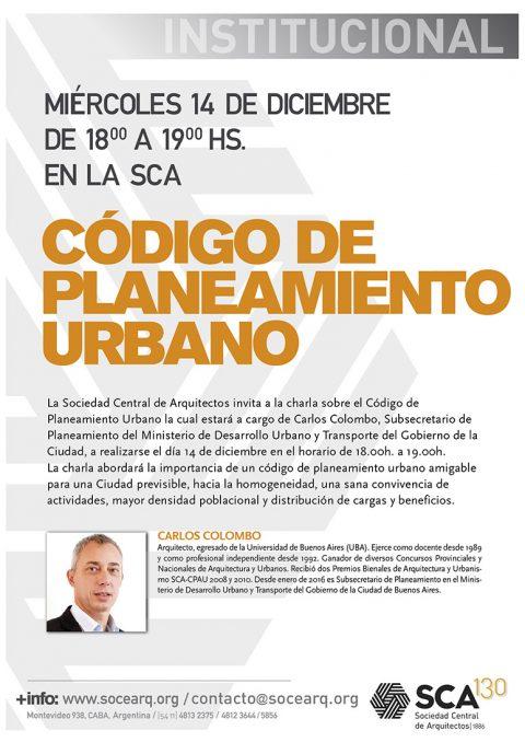 Charla sobre el Código de Planeamiento Urbano