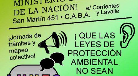 Movilización contra la destrucción del bosque nativo que aún queda en la provincia de Buenos Aires