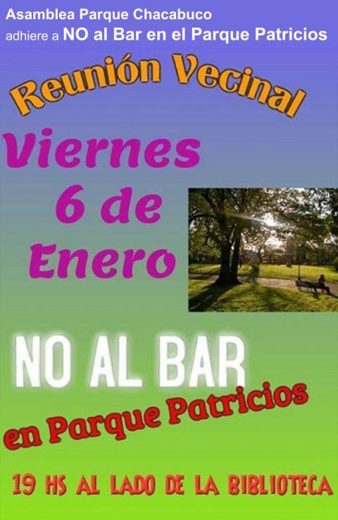 """Reunión """"Parque sin Bares"""""""
