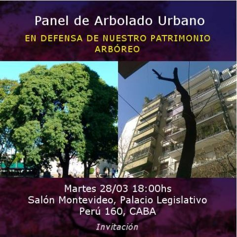 Panel sobre Arbolado Urbano