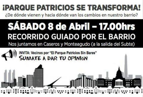 Recorrida guiada por el barrio Parque Patricios – ¿Hacia dónde van los cambios?