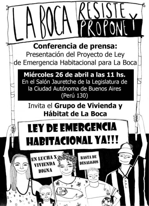 Presentación Proyecto de Ley Emergencia Habitacional en la Boca