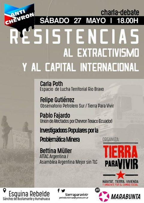 Resistencias al Extractivismo y al capital internacional