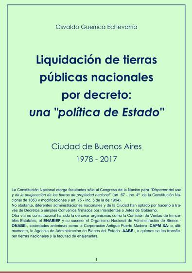 """Liquidación de tierras públicas por decreto: una """"política de Estado"""""""