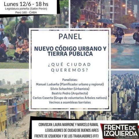 """Panel """"Nuevo Código Urbano y Tierra Pública"""""""