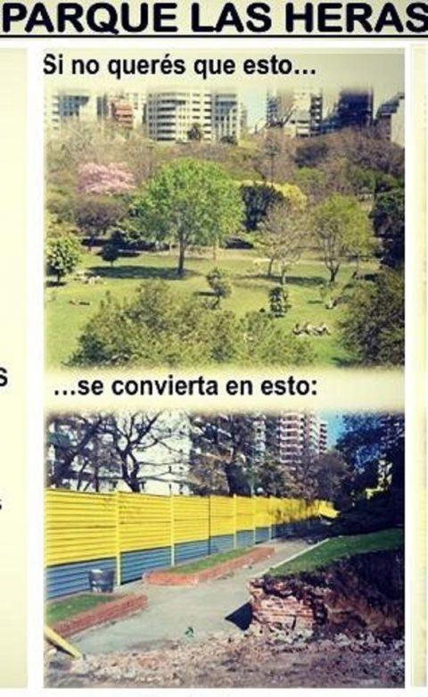Queremos salvar los SETENTA árboles del Parque Las Heras y los restos arqueológicos de la Penitenciaría