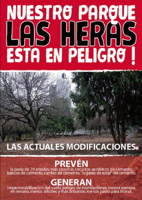 Abrazo sabatino al Parque Las Heras