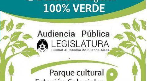 Audiencia Pública – CONCURRIR por el Parque cultural Estación Colegiales