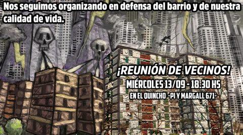Catalinas: Nos seguimos reuniendo en defensa del barrio y de nuestra calidad de vida
