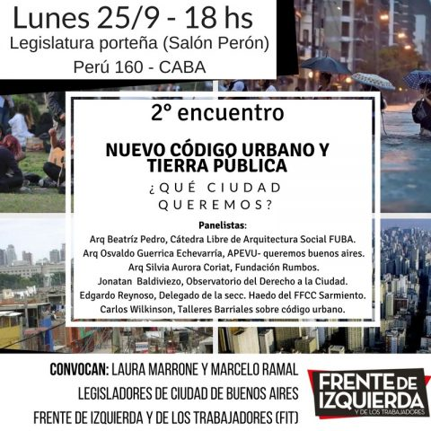 2º Encuentro – Nuevo código urbano y tierra pública