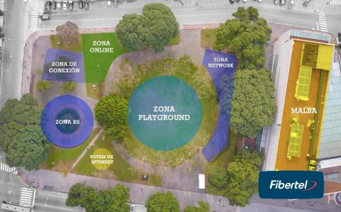Plaza Fibertel: Más privatización del espacio público