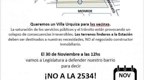 Convocatoria para frenar la ley 2534 J – 30/11