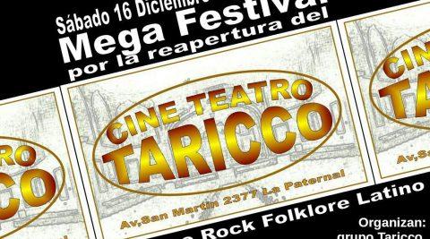 Mega Festival por la reapertura del Cine Teatro Taricco