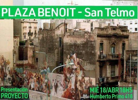 Queremos una plaza en San Telmo-Presentación Proyecto Plaza Benoit
