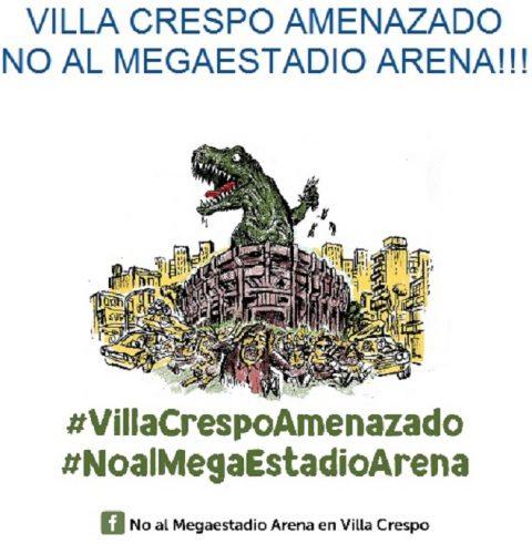 Volanteada contra el Megaestadio Arena con participación de legisladores