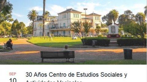 30 años Centro de Estudios Sociales y Actividades Vecinales