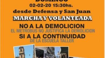 Marcha y Volanteada No a la Demolición de la Escuela Taller de San Telmo