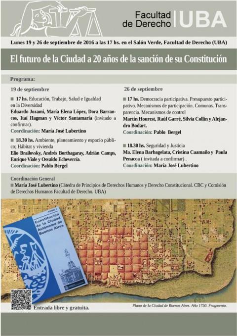El futuro de la CABA a 20 años de su CONSTITUCION